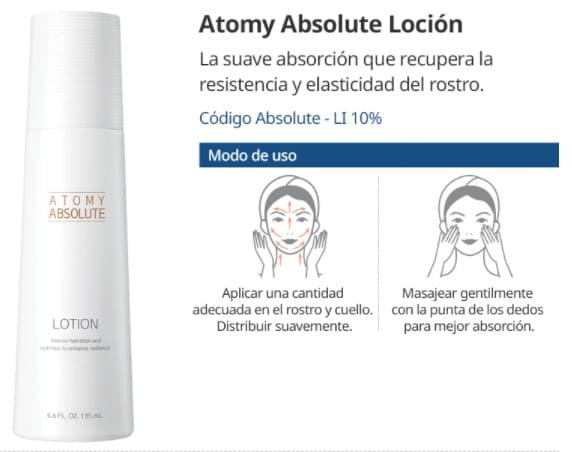 Cómo Usar Atomy Absolute Loción